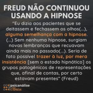 o que diz Freud sobre a hipnose