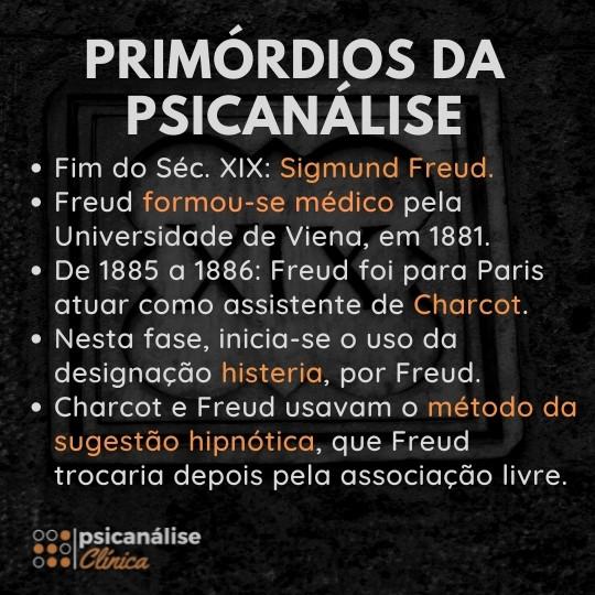 história e primórdios da psicanálise, Freud e Charcot, método da sugestão hipnótica