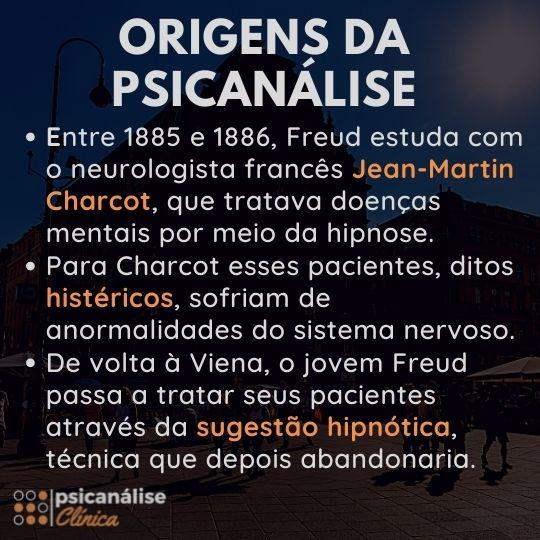 gênese ou origem da psicanálise