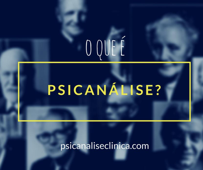 psicanalise o que é