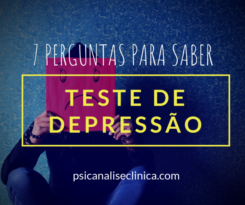 teste de depressão, 7 perguntas para identificar
