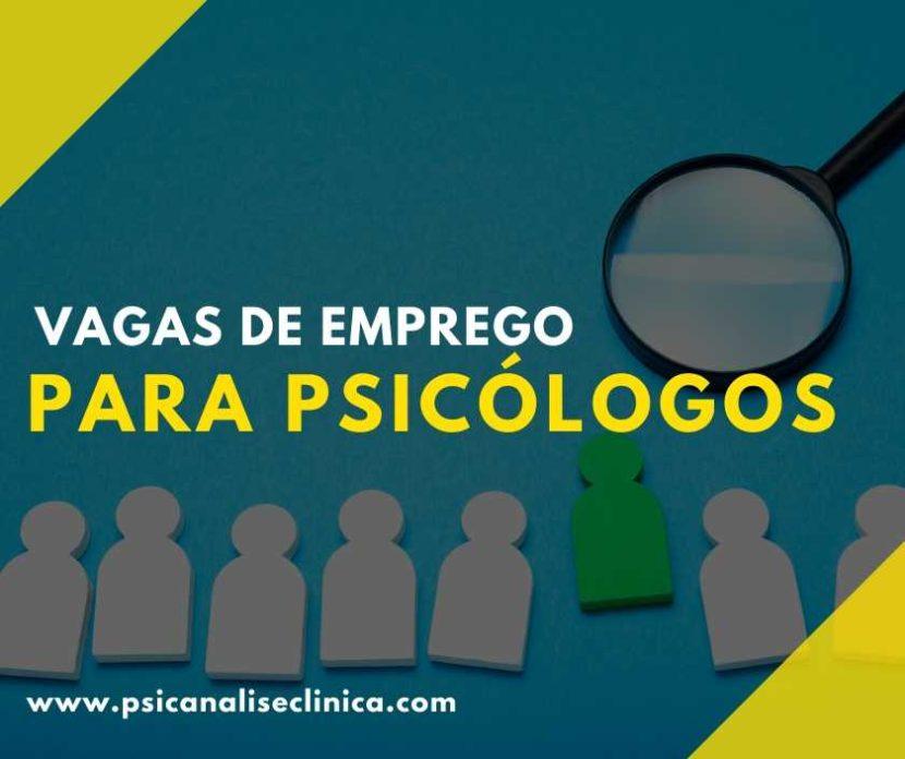 emprego para psicólogos