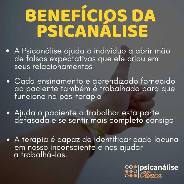 benefícios da psicanálise resumo
