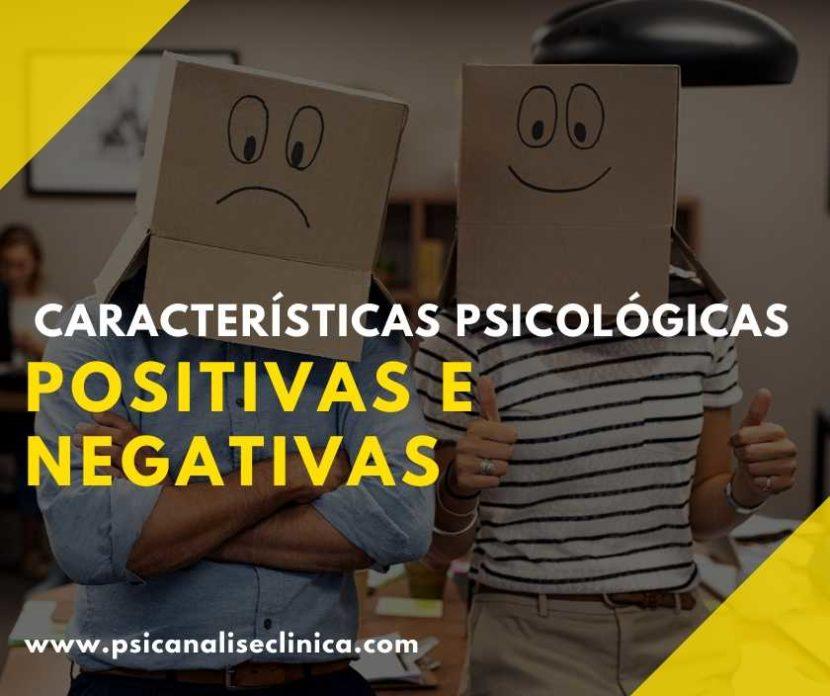 características psicológicas positivas e negativas - listagem