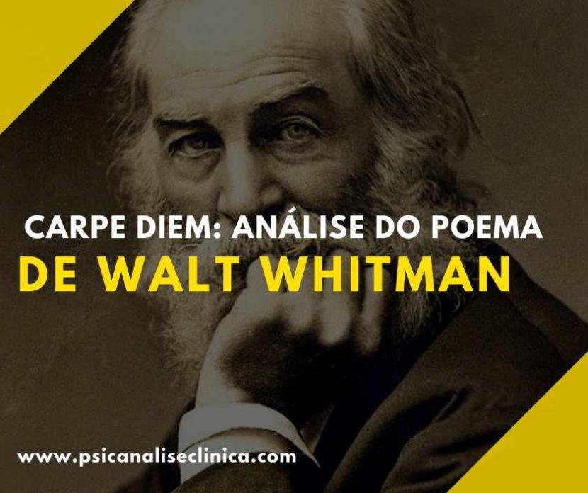 carpe diem poema de walt whitman, tradução