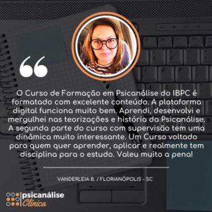 vanderleia, aluna curso psicanálise florianópolis sc