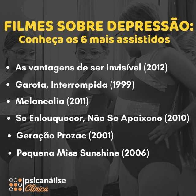 filmes sobre depressão infográfico psicanálise