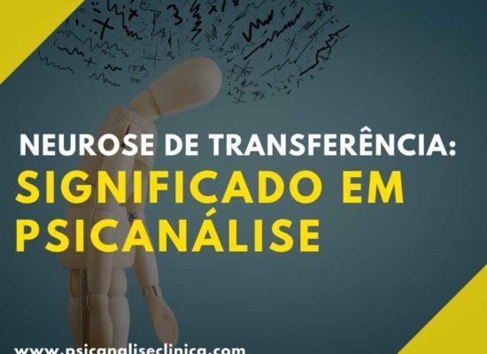 significado de neurose de transferência