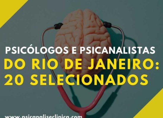 psicanalistas e psicologos do Rio de Janeiro