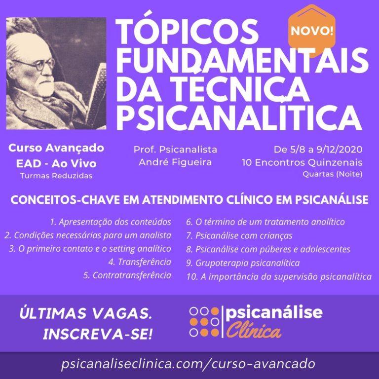 curso avançado psicanálise clínica