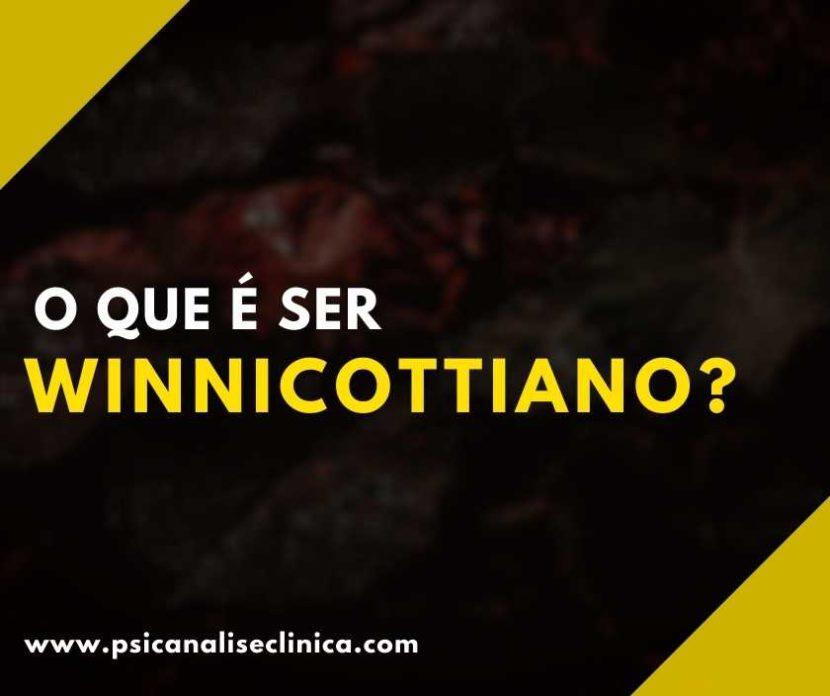 o que é ser winnicottiano