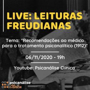 live-psicanalise-recomendacoes-medico-tratamento-freud