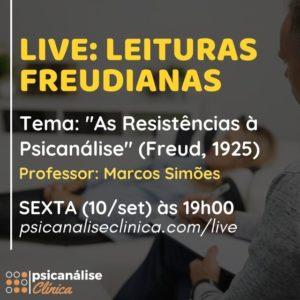 resistências psicanálise freud - live