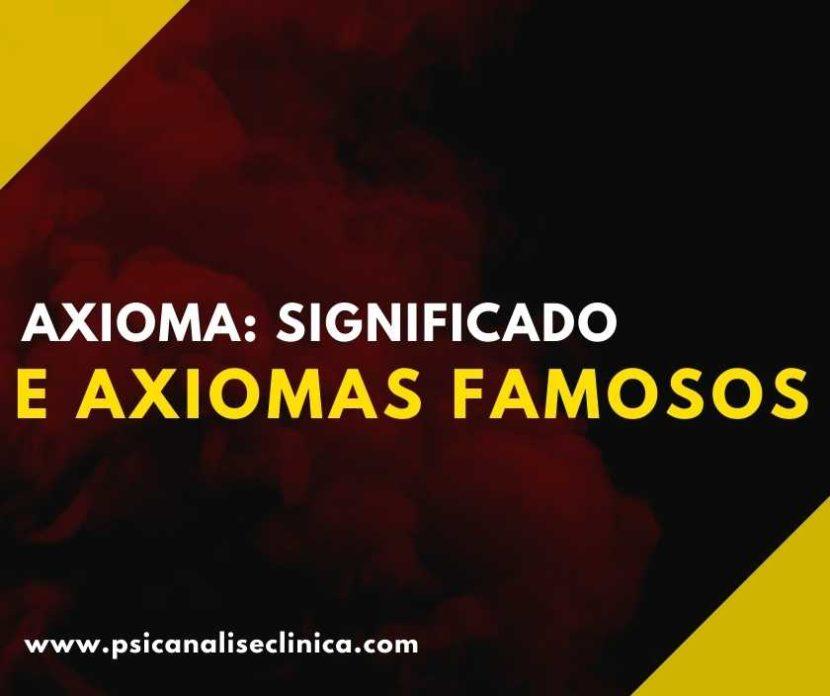 axiomas famosos