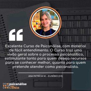 Depoimento Curso Formação em Psicanálise em Eusébio Ceará - Ana Patrícia