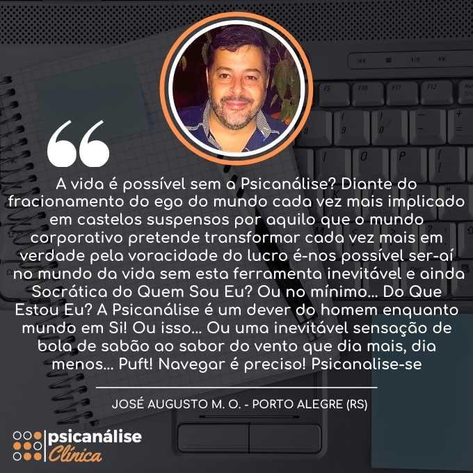 Depoimento Curso Psicanálise em Porto Alegre RS - José Augusto