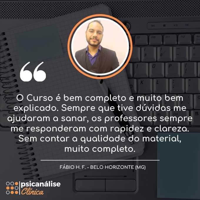 Curso Psicanálise EAD online MG - Fábio