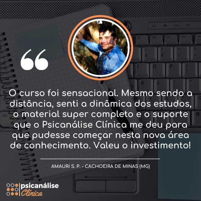 Depoimento Curso Psicanálise em Cachoeira de Minas - MG