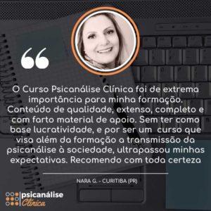 Depoimento Curso Psicanálise em Curitiba Paraná - Nara