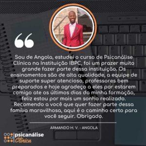 Curso Psicanálise em Angola - depoimento Armando