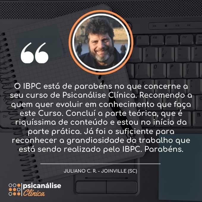 Curso Psicanálise em Joinville SC - depoimento Juliano