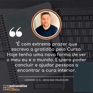 Curso Psicanálise em Mogi das Cruzes - SP - Leandro