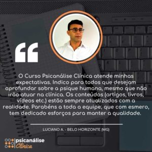 Curso Psicanálise online EAD MG - Luciano
