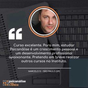 Curso Formação em Psicanálise Clínica Depoimento - Marcelo - São Paulo SP