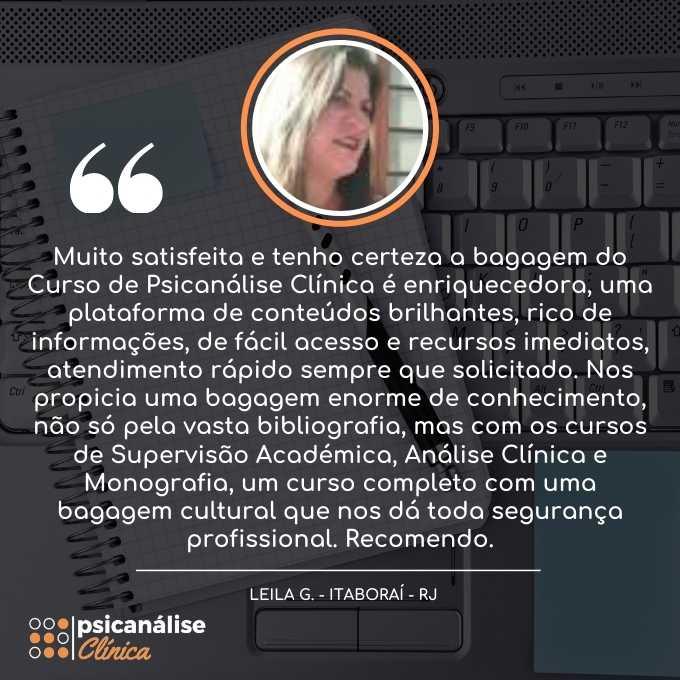 Psicanálise Clínica Curso Itaboraí RJ - Leila