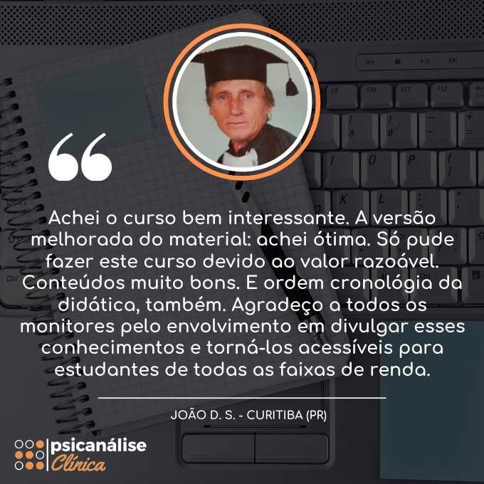 Psicanálise Clínica Reclame Aqui - Curitiba Paraná - João