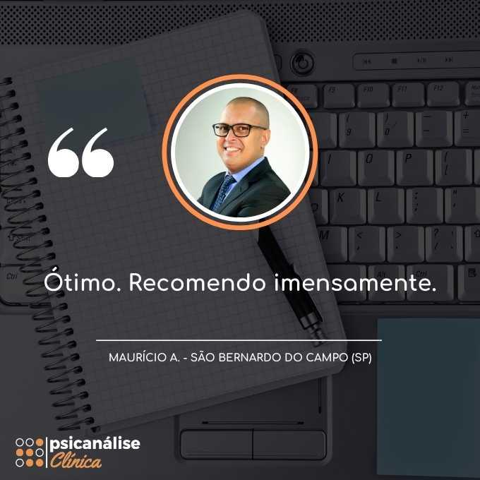 Depoimento Formação Psicanálise São Bernardo do Campo SP - Maurício