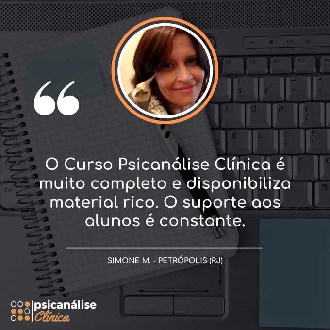 Simone depoimento curso psicanálise clínica em Petrópolis RJ