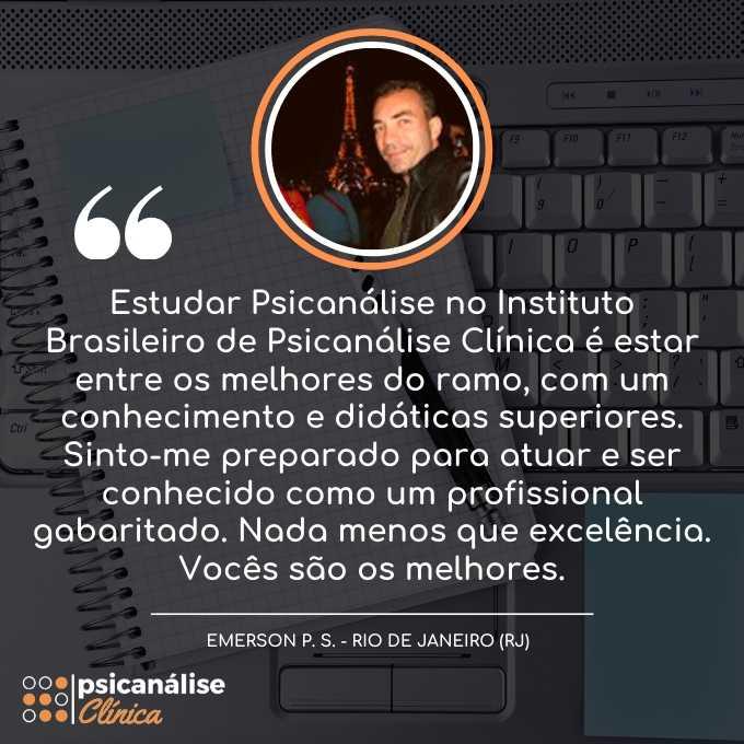 Curso Psicanálise Rio de Janeiro RJ - Emerson