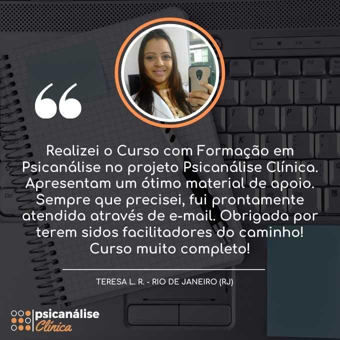 Formação em Psicanálise RJ Rio de Janeiro - Teresa