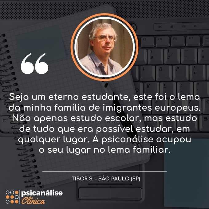Formação em Psicanálise EAD SP São Paulo - Tibor