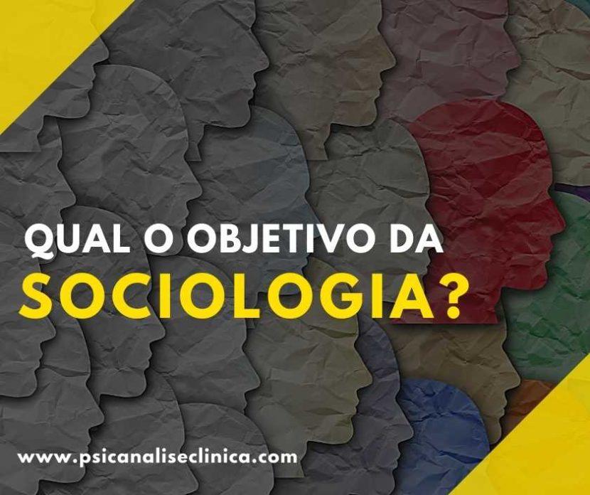 qual o objeto de estudo da sociologia