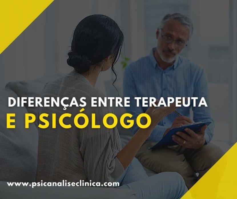 qual a diferença entre psicólogo e terapeuta