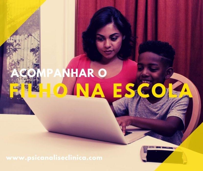 acompanhar o filho na escola, acompanhar o aprendizado do filho