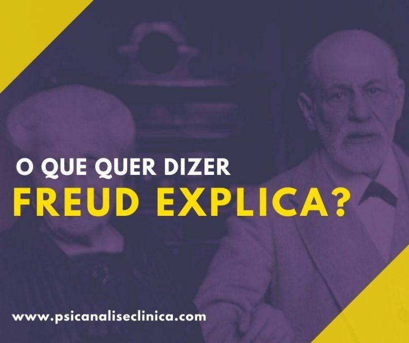 O que significa Freud Explica