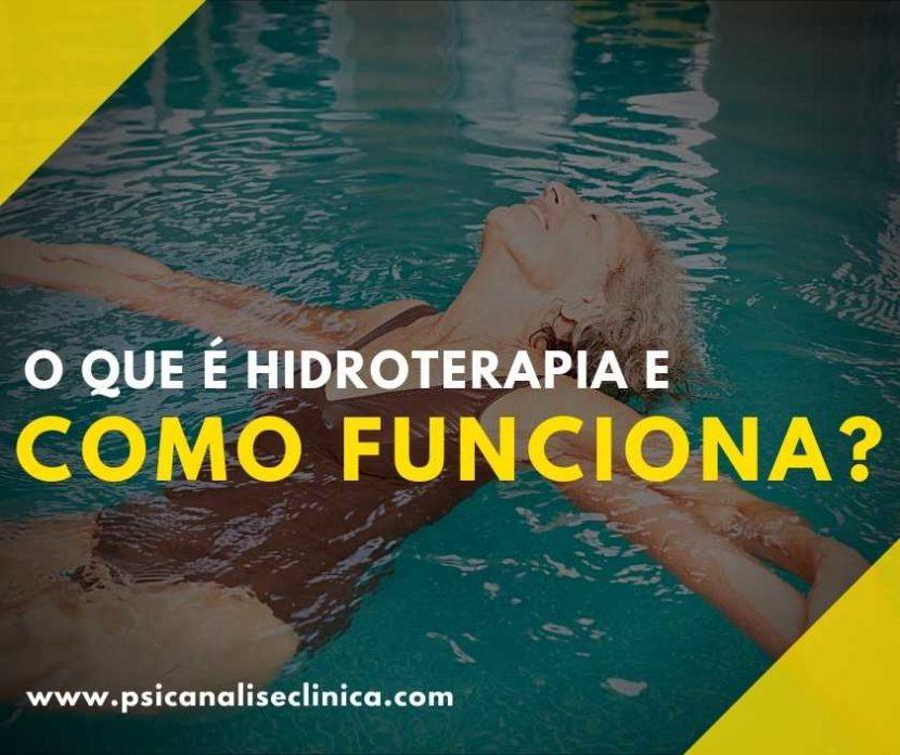 o que é hidroterapia