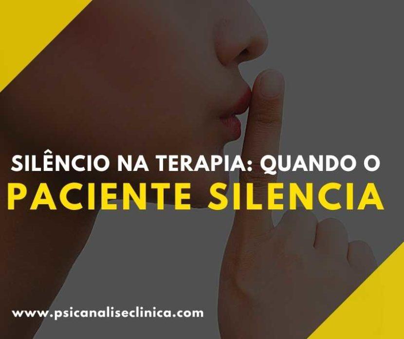silêncio na terapia