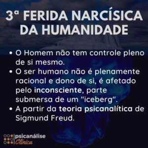 terceira ferida narcísica freud psicanálise