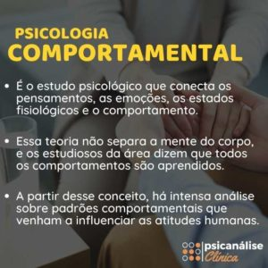 psicologia comportamental infográfico, resumo