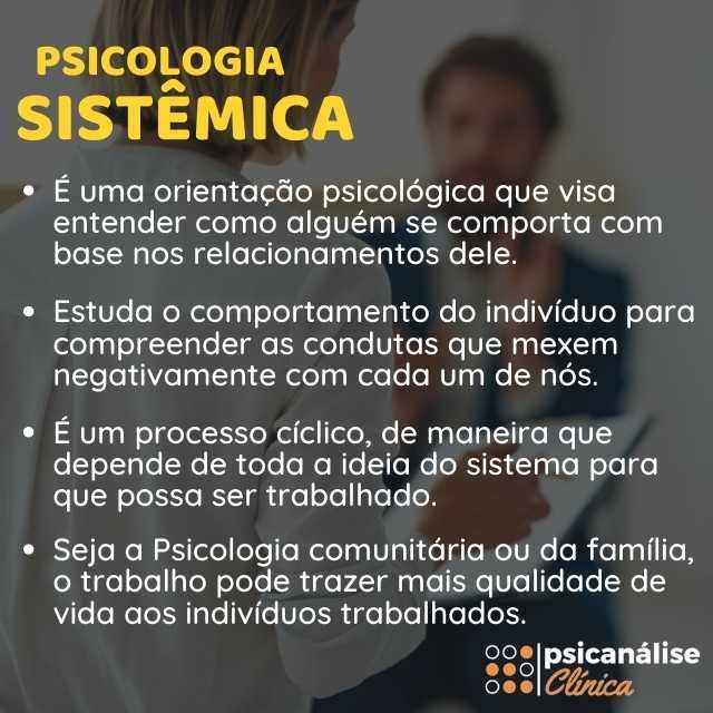 psicologia sistêmica resumo infográfico