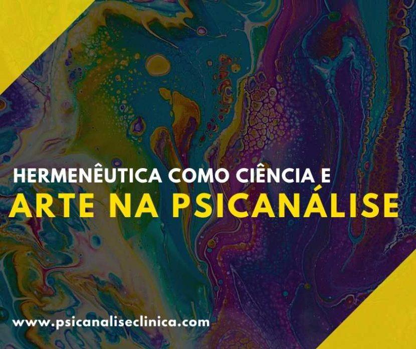 ciência e arte na psicanálise